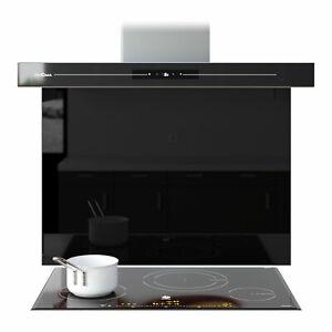 Splashback Black Kitchen Toughened Glass Panels Cooker Bathroom Any Size & Color