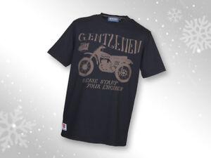 Genuine Suzuki Men's Gentlemen Please Start Your Engines T-Shirt, Colour Black
