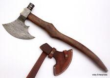 Damascus steel Axe Hatchet Tomahawk Knife Handmade  - 25 Inches Rose Wood Handle