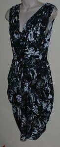 Wayne Cooper sleeveless black & white dress Size 12