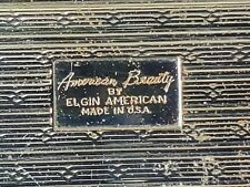 New listing Vintage Signed Elgin American Beauty Mother Of Pearl Compact