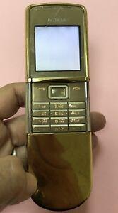 Vintage Rare SS NOKIA 8800 Sirocco Gold  RM - 165 Mobile Phone