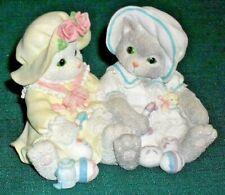 "Enesco Calico Kittens ""You Make Life Colorful"" Cats Figurine w/Box 1994"