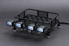 Jazrider Steel Luggage Tray Roof Rack w/Light For 1/10 RC Car Truck Tamiya Axial