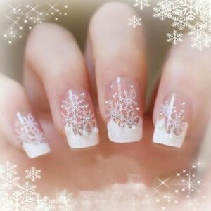 Christmas Snow Scene Nail Designs Nails Art 3D Decals Wraps Stickers Reindeer