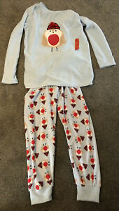 Christmas Robin Fleece Pyjamas - Age 11-12. Brand New