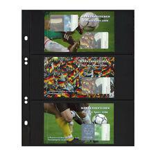 Feuilles Multi Collect Lindner noires à 3 bandes pour carnets de timbres.