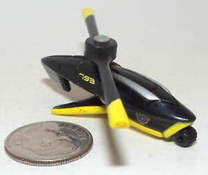 Small Micro Machine Futuristic Helicopter in Black and Yellow