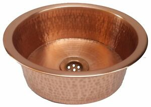 Polished Golden Copper Vessel Pan Sink Toilet Bathroom Remodel