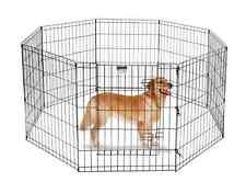 Portable Dog Run Outdoor Fence Kennel Pet Fencing Gate Door Medium Exercise Pen