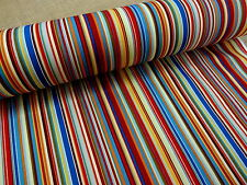 100% COTTON  FABRIC +++ MULTI STRIPE + COLOUR 5