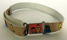 Vintage Sesame Street Children's Belt Girl's Bert Ernie Big Bird Cookie Monster