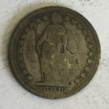 Svizzera HELVETIA 1/2 Franchi Svizzeri Moneta D'Argento 1909