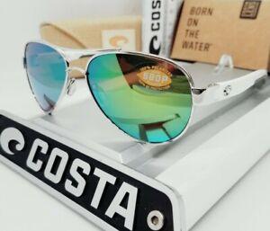 COSTA DEL MAR palladium/green mirror LORETO POLARIZED 580P sunglasses! NEW!