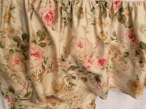 Ralph Lauren Woodstock Garden Floral/Pink Rose Ruffled Queen Bed Skirt EPOC