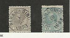 Suriname, Postage Stamp, #8, 11 Used, 1873-89 Nice Cancels, JFZ