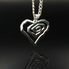 Marilyn Manson Heart ROSE charm NEW MM Rose TOP cuba chain 24inch necklace
