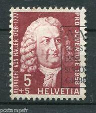 SUISSE SCHWEIZ 1958, timbre 616, A. VON HALLER, CELEBRITE, CELEBRITY, oblitéré
