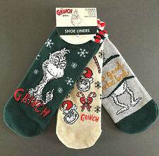 3 Paar Der Grinch Damen Sneaker Socken Füßlinge Lustig Weihnachten 37-42 Primark