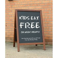Traditional Heavy Duty Wood Framed Chalk A-Board - Pavement Display