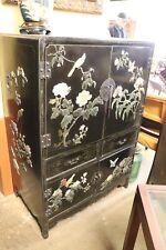 Black oriental cabinet Great showroom sample furniture design piece