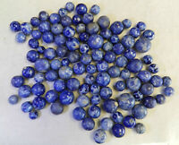 #12600m Vintage Group or Bulk Lot of 100 Blue Bennington Marbles .44 to .87 In