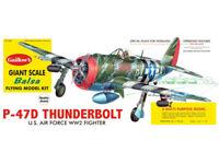 WWII P-47 Thunderbolt Guillow's Giant Balsa Wood Model Airplane Kit  GUI-1001