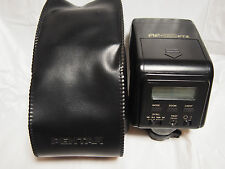 【Exc+++】 Pentax AF330FTZ Shoe Mount Strobe f w/case from Japan