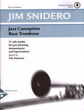 Jim Snidero Jazz Conception Bassposaune Bass Trombone Noten mit Download Code