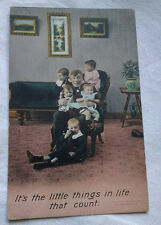 It's the Little things in life Postcard Bramforth & Co Series 1165 Humor VTG
