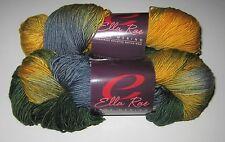 LOT of 2 skeins INTO THE WOODS Ella Rae LACE MERINO superwash fingering yarn 224