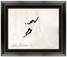 LeRoy Neiman Original Ink Drawing Hand Signed Nude Female Playboy Femlin Artwork
