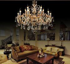 Luxury 15 bulb modern crystal chandelier wall fixture Ceiling Light Pendant lamp