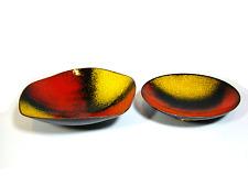 50er Schalen Set Kupfer & Emaille ° Fischland Bowl ° Bunge-Perli-Schibensky Era