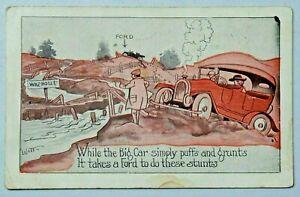 FORD Booster Comic Postcard Witt Ford Automobile Stunts 1924 DB Postcard 6283