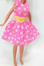 "Doll Clothes fit 9"" Skipper Dolls Genuine Barbie Label Pink Dress Lot #317"