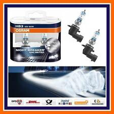 2x OSRAM HB3 Nightbreaker Unlimited +110% Full Beam Alfa Audi BMW Mazda etc