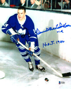 DAVE KEON SIGNED 8x10 PHOTO FULL NAME SIGNATURE TORONTO MAPLE LEAFS BECKETT BAS