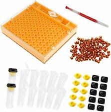 Beekeeping Complete Queen Rearing Cell Cup Kit Catcher Box Hair Roll Cage Cup