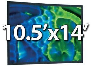 """DRAPER 241055 -UFS 10.5'x14' 200""""D REPLACEMENT SURFACE- MATT WHITE XT1000V FRONT"""