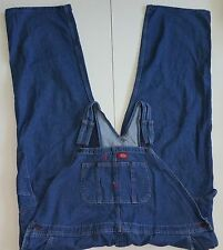 Dickies Overalls Carpenter Work Blue Denim Jeans Big & Tall Mens Size 50 x 32