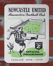 Vintage Tin Sign 1948 Newcastle United Programme Metal Sign. Man Cave