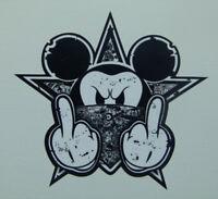 Stickerbomb black Oldschool Mickey Sticker Aufkleber Biker Autoaufkleber USA