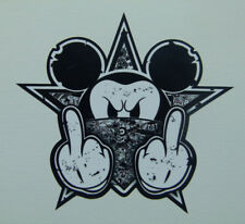 Stickerbomb black Oldschool Mickey Sticker Aufkleber Biker Autoaufkleber USA