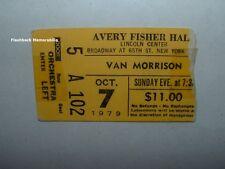 Van Morrison 1979 Concert Ticket Stub Lincoln Center Avery Fisher Hall Them Rare