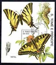 Papillons Saint Thomas et prince (25) bloc oblitéré