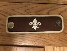 scout woggle leather