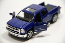 "5"" Kinsmart 2014 Chevrolet Silverado Truck Diecast Model Toy 1:46 Chevy - BLUE"