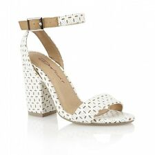 Dolcis Tan and White Block Heel Sandals Size 4  NEW RRP £34.95 LIMITED STOCK