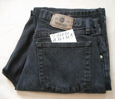 Mens Denim Black Jeans WRANGLER Hero Relaxed Fit Tag 33x32 Actual 32x32 #1